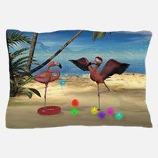 Flamingo Holiday Pillow Case
