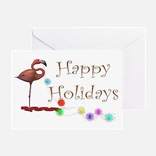Flamingo Holiday Greeting Cards