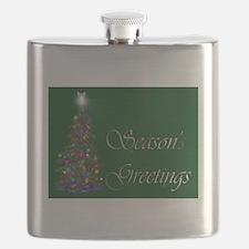 Seasons Greetings Flask