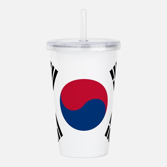 South Korea Flag Acrylic Double-Wall Tumbler