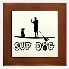SUP Dog-Dude Framed Tile