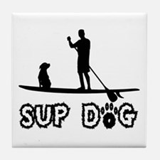 SUP Dog-Dude Tile Coaster