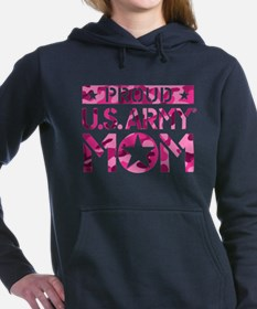 PROUD U.S. ARMY MOM Women's Hooded Sweatshirt