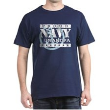 Proud Navy Grandpa T-Shirt