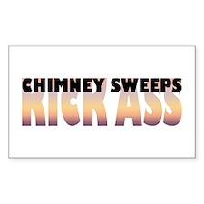 Chimney Sweeps Kick Ass Rectangle Decal