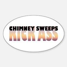 Chimney Sweeps Kick Ass Oval Decal