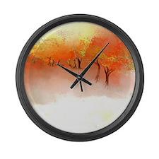 Unbelievable Autumn Landscape Large Wall Clock