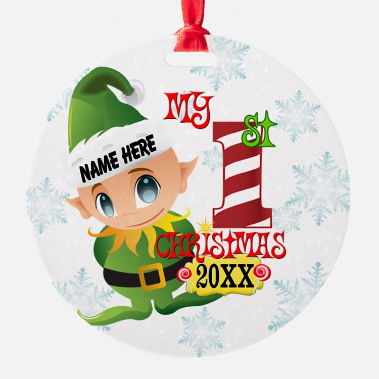 Baby Elf 1st Christmas Ornament