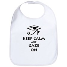 Keep Calm and Gaze On Bib