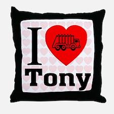 I Love Tony Throw Pillow