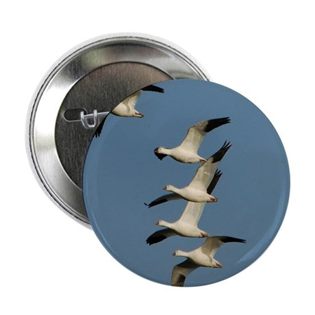 """Snow Geese 2.25"""" Button (100 pack)"""