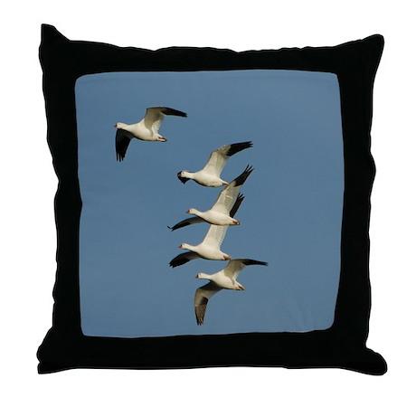 Snow Geese Throw Pillow