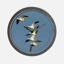 Snow Geese Wall Clock