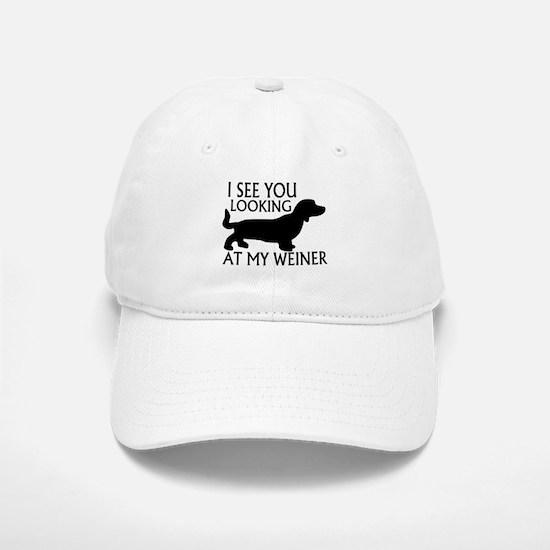 Looking At My Weiner Baseball Baseball Cap