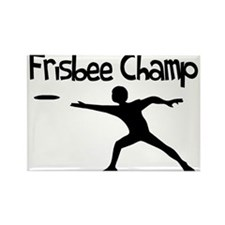 Frisbee Champ Rectangle Magnet