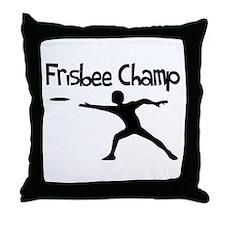 Frisbee Champ Throw Pillow