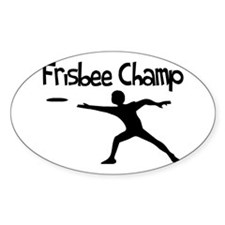 Frisbee Champ Decal