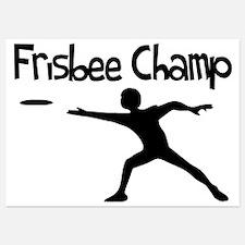 Frisbee Champ Invitations
