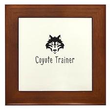 Coyote Trainer Framed Tile