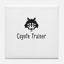 Coyote Trainer Tile Coaster