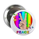 Colorful Peace Symbol Button