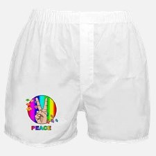 Colorful Peace Symbol Boxer Shorts