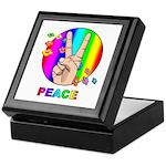 Colorful Peace Symbol Keepsake Box