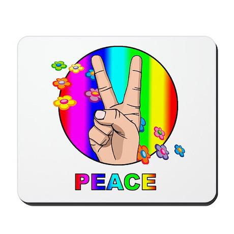 Colorful Peace Symbol Mousepad