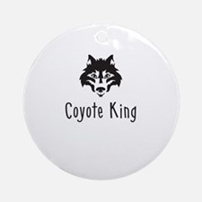 Coyote King Ornament (Round)