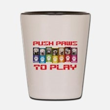 Push PAWS To Play Shot Glass