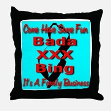 Bada XXX Bing Throw Pillow