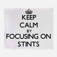 Keep Calm by focusing on Stints Throw Blanket