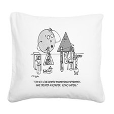 Genetics Cartoon 0313 Square Canvas Pillow