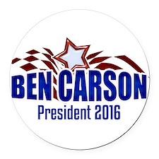 Ben Carson - Modern Eagle Round Car Magnet