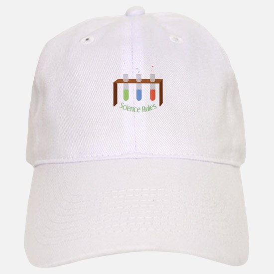 Science Rules Baseball Baseball Baseball Cap