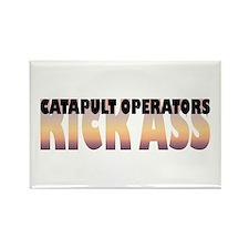 Catapult Operators Kick Ass Rectangle Magnet