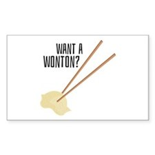 Want A Wonton? Decal