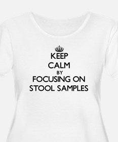 Keep Calm by focusing on Stool S Plus Size T-Shirt