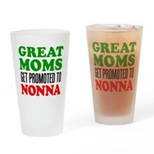 Promoted To Nonna Drinkware Drinking Glass