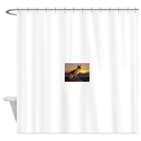 german shepherd shower curtain by admin cp81287717. Black Bedroom Furniture Sets. Home Design Ideas