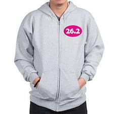 Pink 26.2 Oval Zip Hoodie