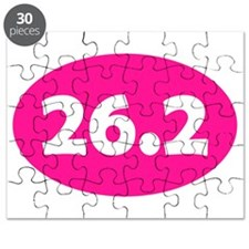 Pink 26.2 Oval Puzzle