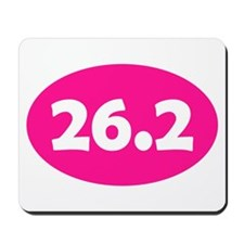 Pink 26.2 Oval Mousepad