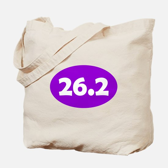 Purple 26.2 Oval Tote Bag
