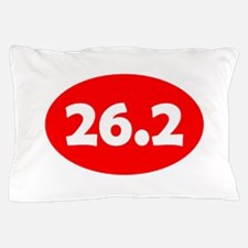 Red 26.2 Oval Pillow Case