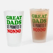 Promoted To Nonno Drinkware Drinking Glass