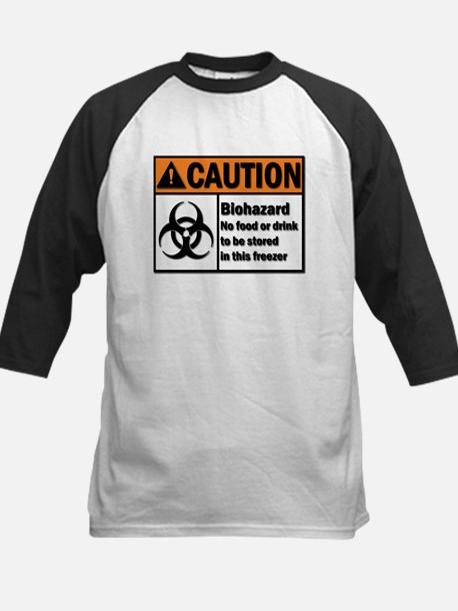 Biohazard Warning Kids Baseball Jersey