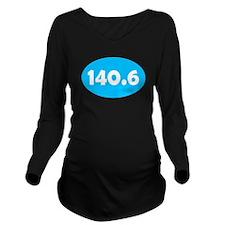 Sky Blue 140.6 Oval Long Sleeve Maternity T-Shirt