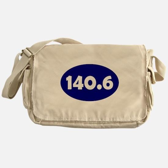 Blue 140.6 Oval Messenger Bag
