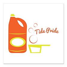 "Tide Pride Square Car Magnet 3"" x 3"""